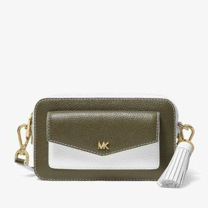Michael Kors Authentic Two-Tone Pebbled Crossbody